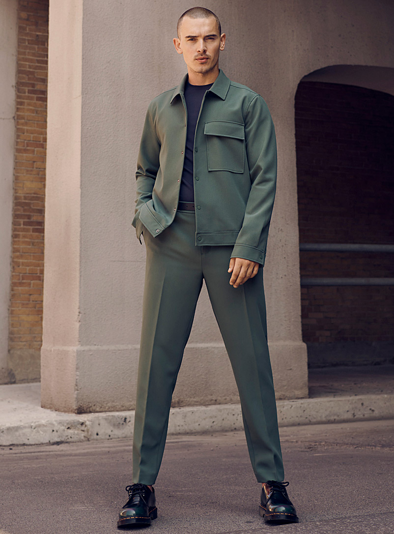 Le 31 Mossy Green Minimalist workwear pant Seoul fit - Tapered for men