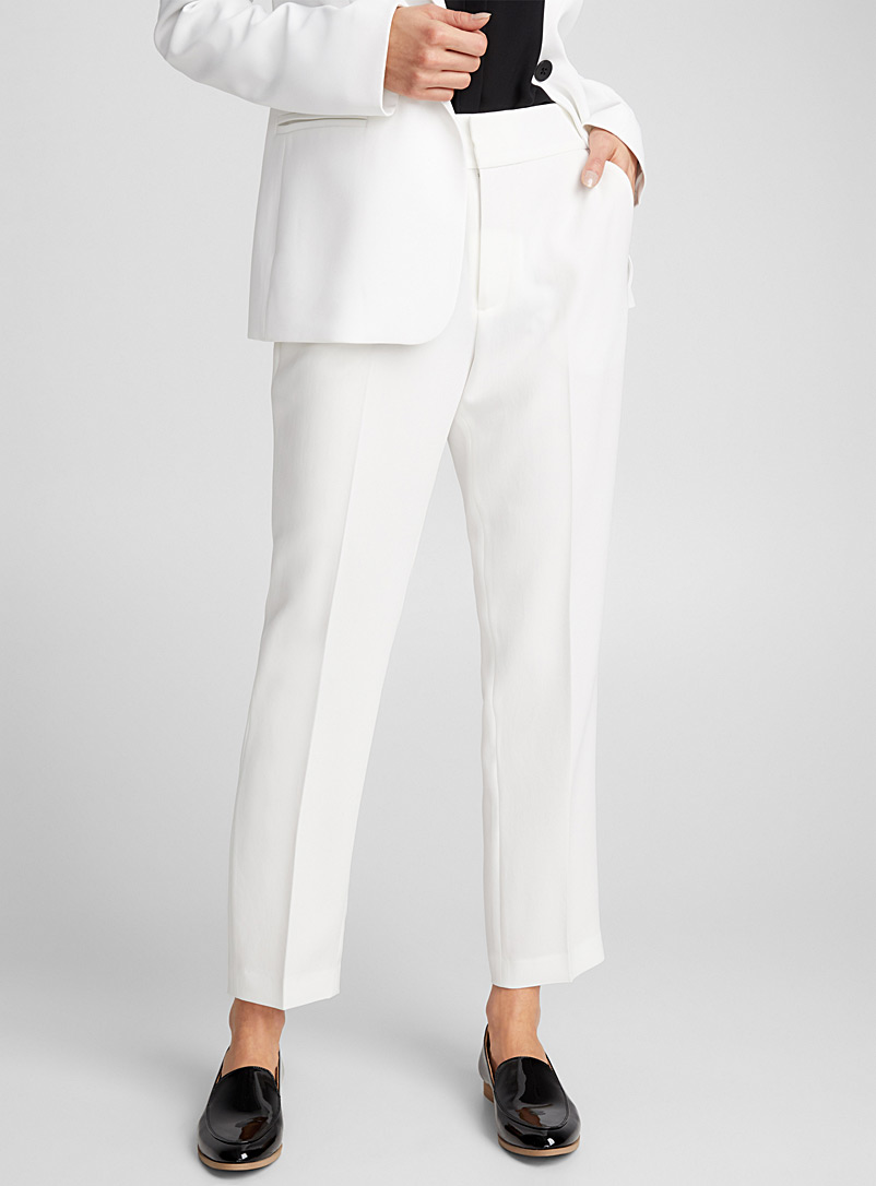 Semi-slim ankle pant - Semi-Slim - Ivory White