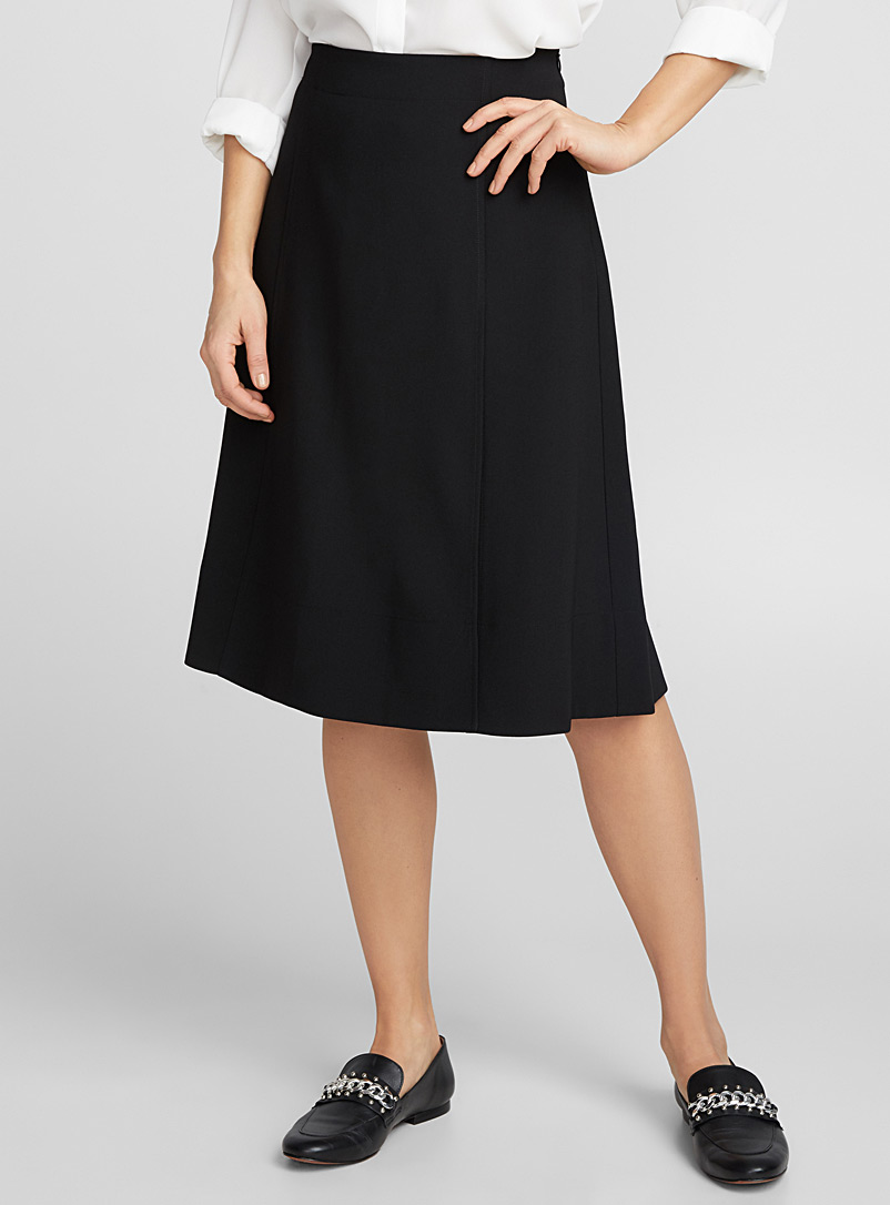 Side slit skirt - Skirts - Black