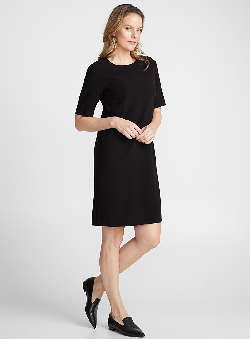 Minimalist straight dress - Straight - Black