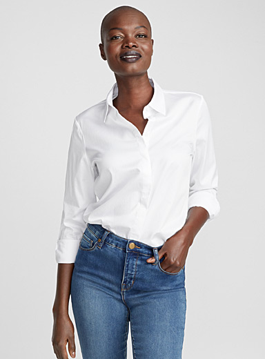 Classic satiny cotton shirt