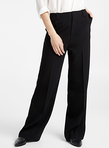 High-rise wide-leg suit pant