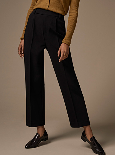 Pleated straight pant