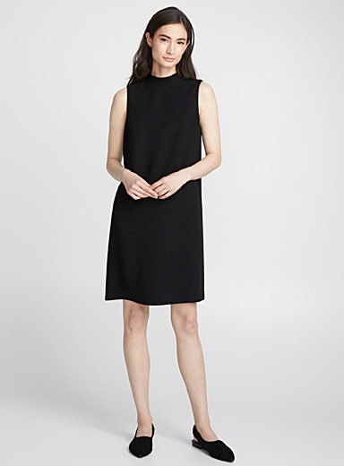 Straight mock-neck dress