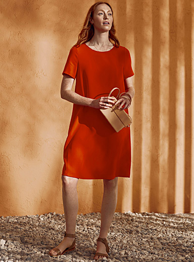 Minimalist shift dress