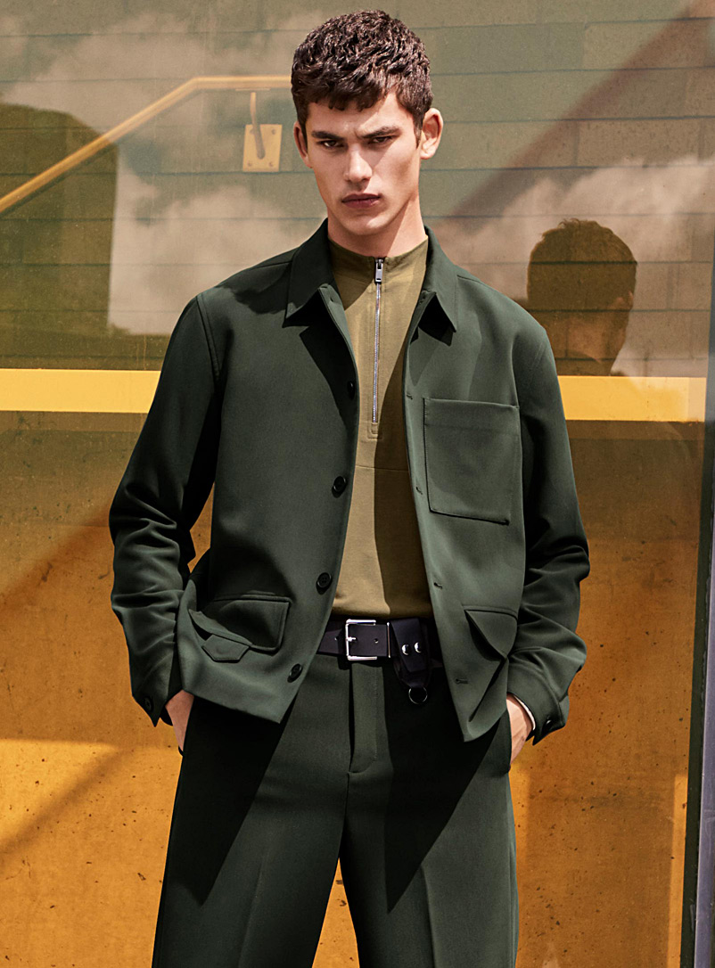 Neo utilitarian jacket - New Proportions - Mossy Green
