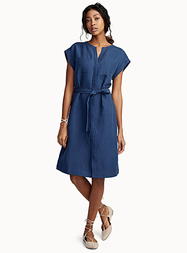 Chic linen shirtdress
