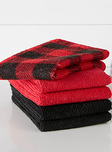 Hunter check microfibre dishtowels  Set of 5
