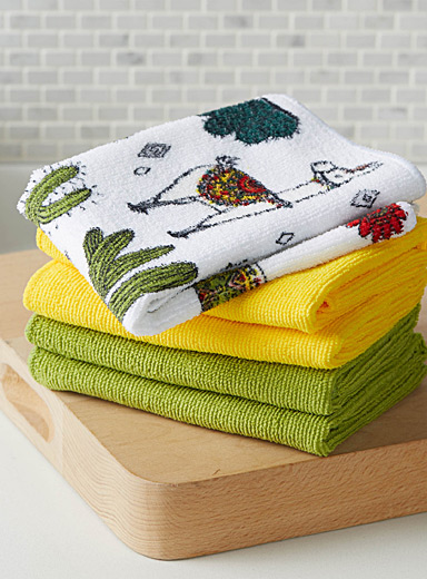 Desert llamas microfibre dishcloths  Set of 5