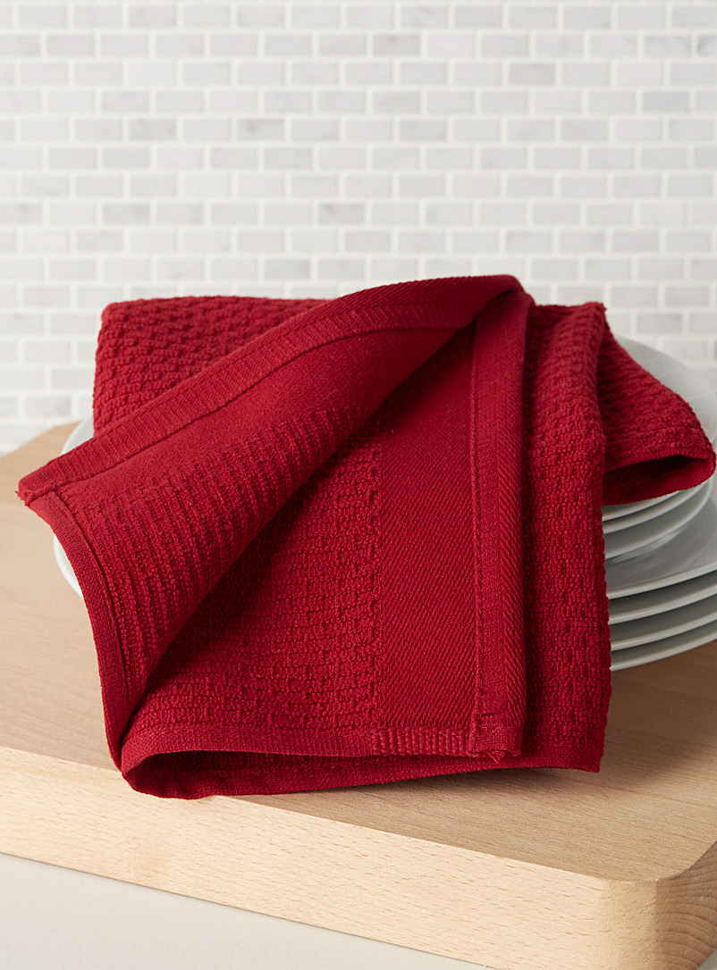 Textured terry cook's towel - Kitchen Linens - Red