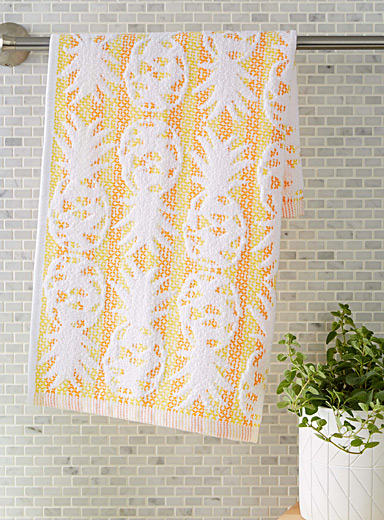 Vibrant pineapple kitchen towel