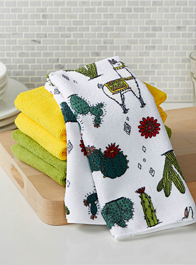 Desert llamas microfibre tea towels  Set of 5
