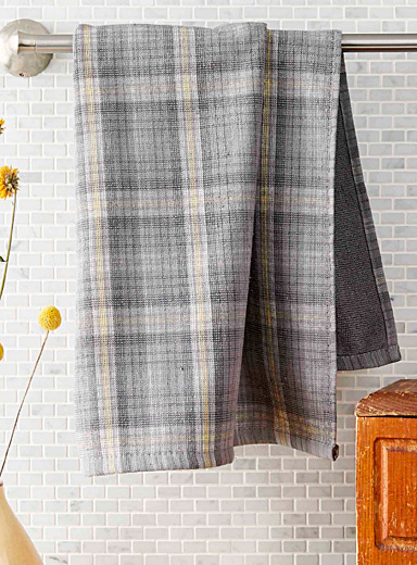 Rustic check kitchen towel