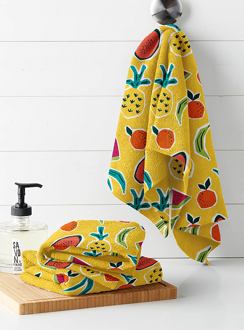 Simons Maison Assorted Fruity tango microfibre tea towels  Set of 3