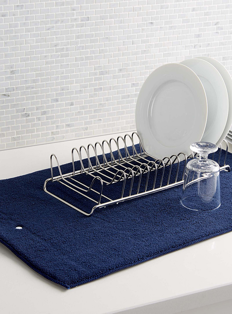 Solid dish drying mat - Useful & Chic Extras - Blue
