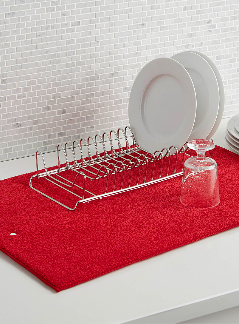 Solid dish drying mat - Useful & Chic Extras - Cherry Red