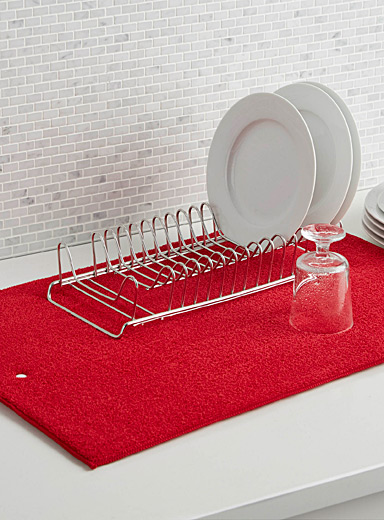Solid dish drying mat