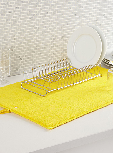 Coloured microfibre dish drying mat