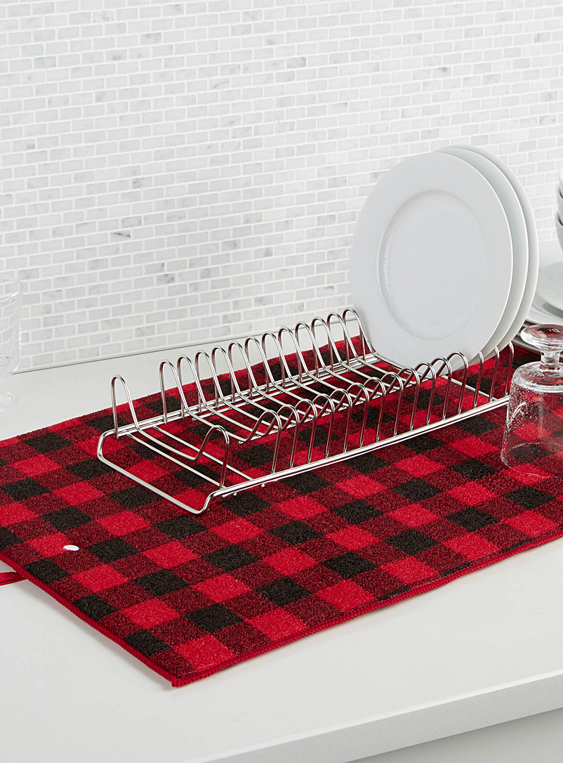 hunter-check-dish-drying-mat