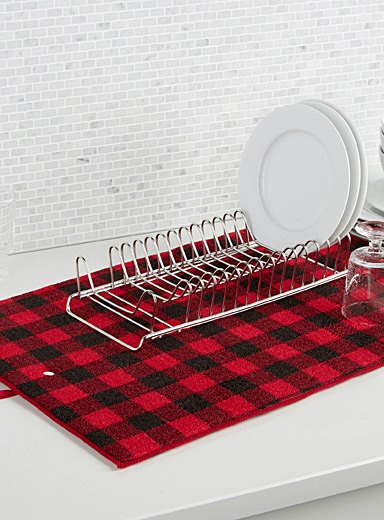Hunter check dish drying mat
