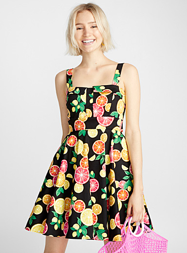 Retro summer print dress