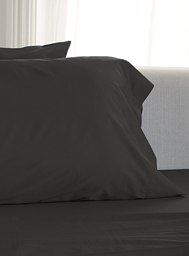 Simons Maison Charcoal Bamboo rayon and cotton pillowcases, 300 thread count  Set of 2