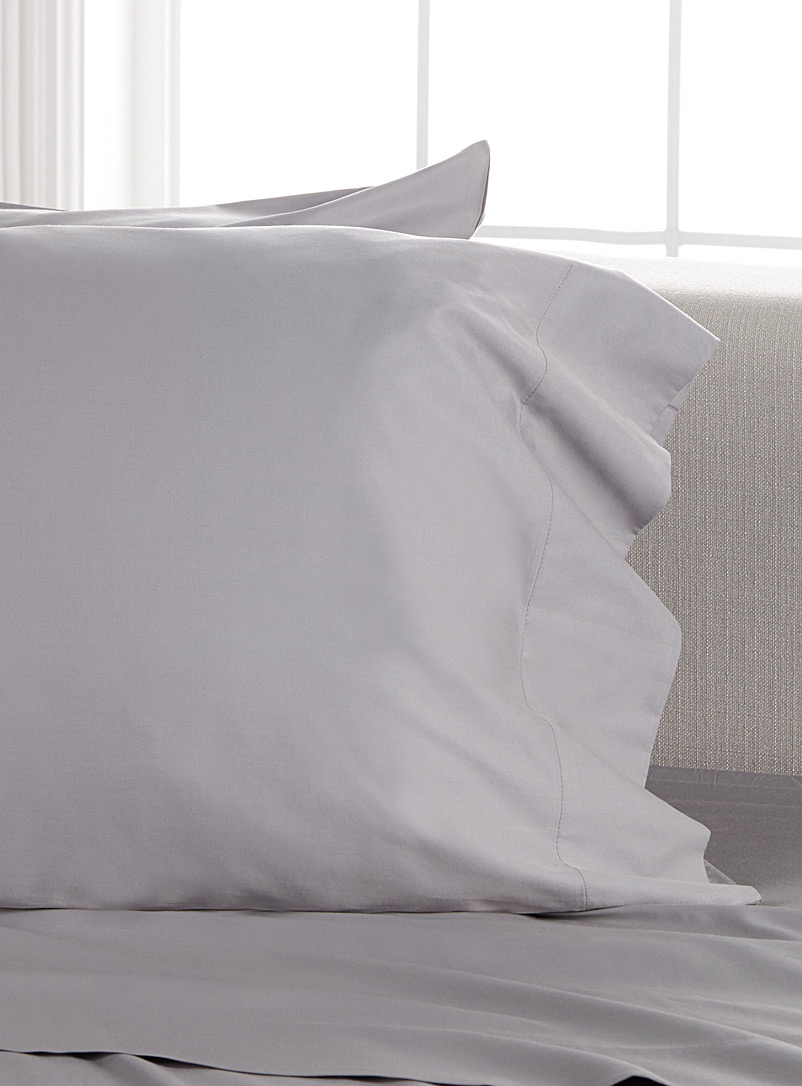Simons Maison Grey Bamboo rayon and cotton 300-thread-count pillowcases Set of 2