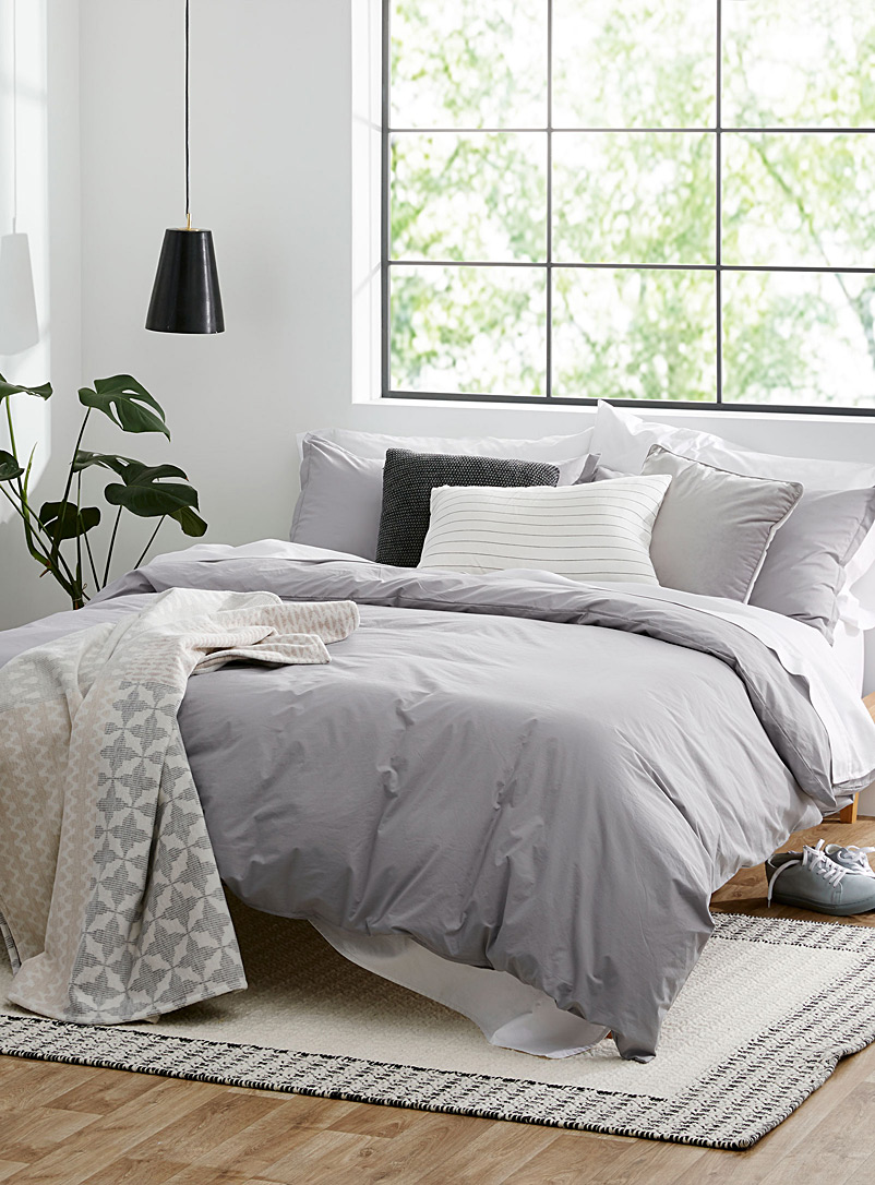 Essential solid duvet cover set - Duvet Covers - Oxford