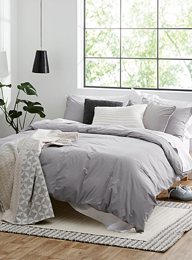 Simons Maison Oxford Essential solid duvet cover set