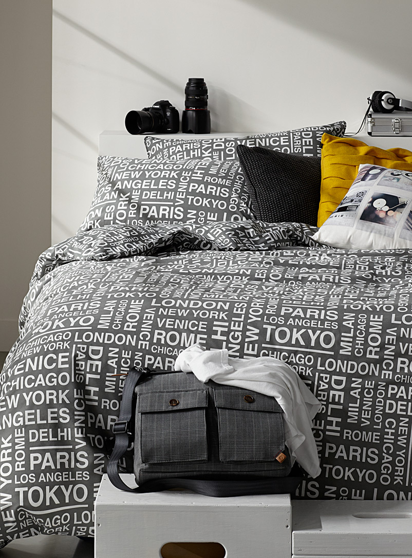 Famous cities duvet cover set - Duvet Covers - Grey
