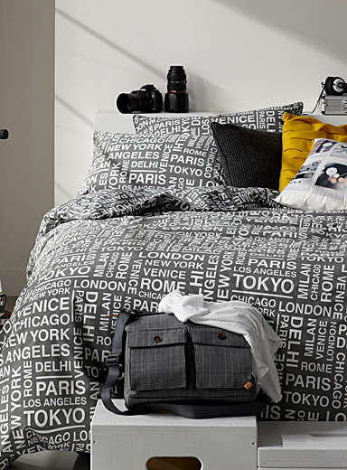Famous cities comforter set