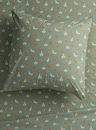 Little foxes Euro pillow sham