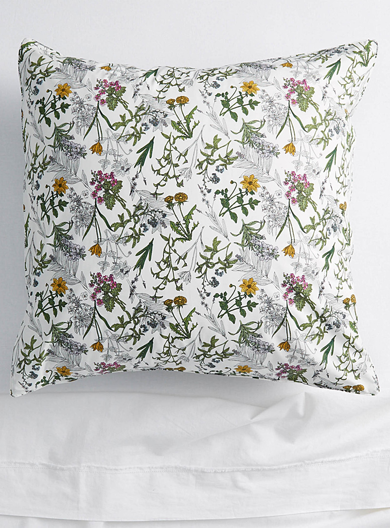 Simons Maison Assorted Drawn flower Euro pillow sham