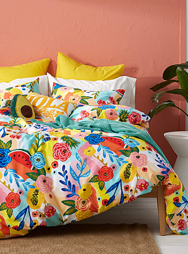 Tropical bouquet duvet cover set
