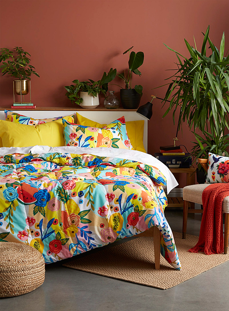 Simons Maison Assorted Tropical bouquet comforter set