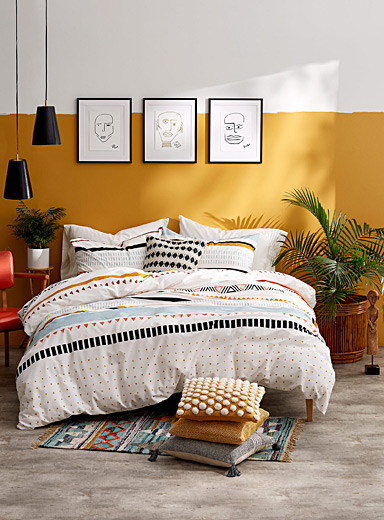 Geo safari duvet cover set