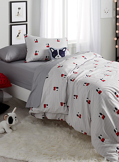 Adorable dogs duvet cover set