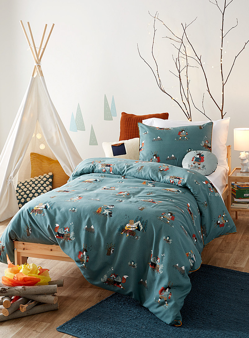 Simons Maison Blue Boreal forest duvet cover set