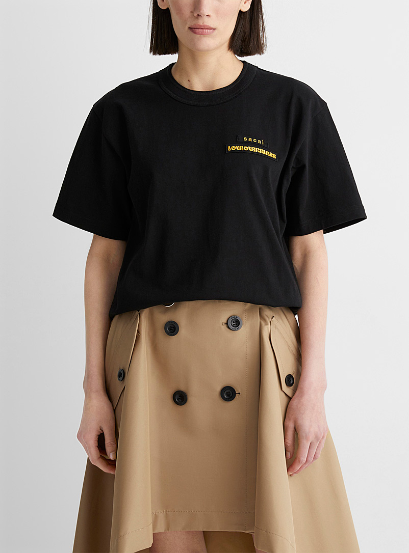 Sacai Black Love Over Rules T-shirt for women