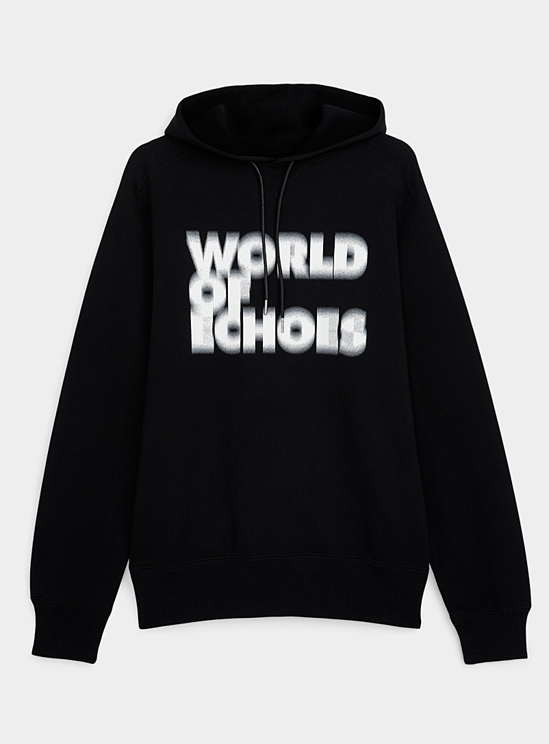 Sacai Black and White World of Echoes hooded sweatshirt for women