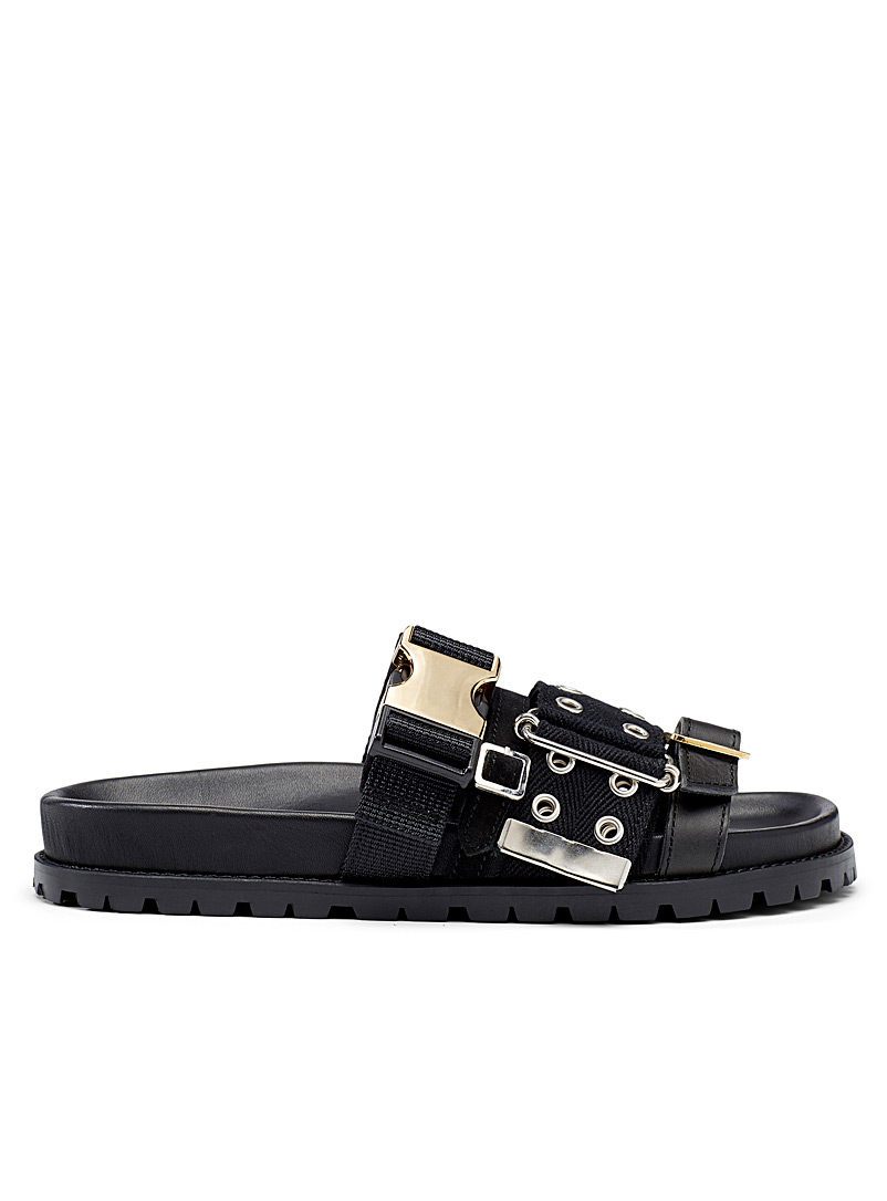 Sacai Black Belted black sandals for women