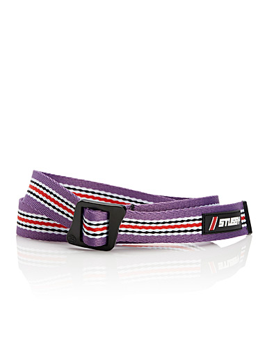 Striped woven belt