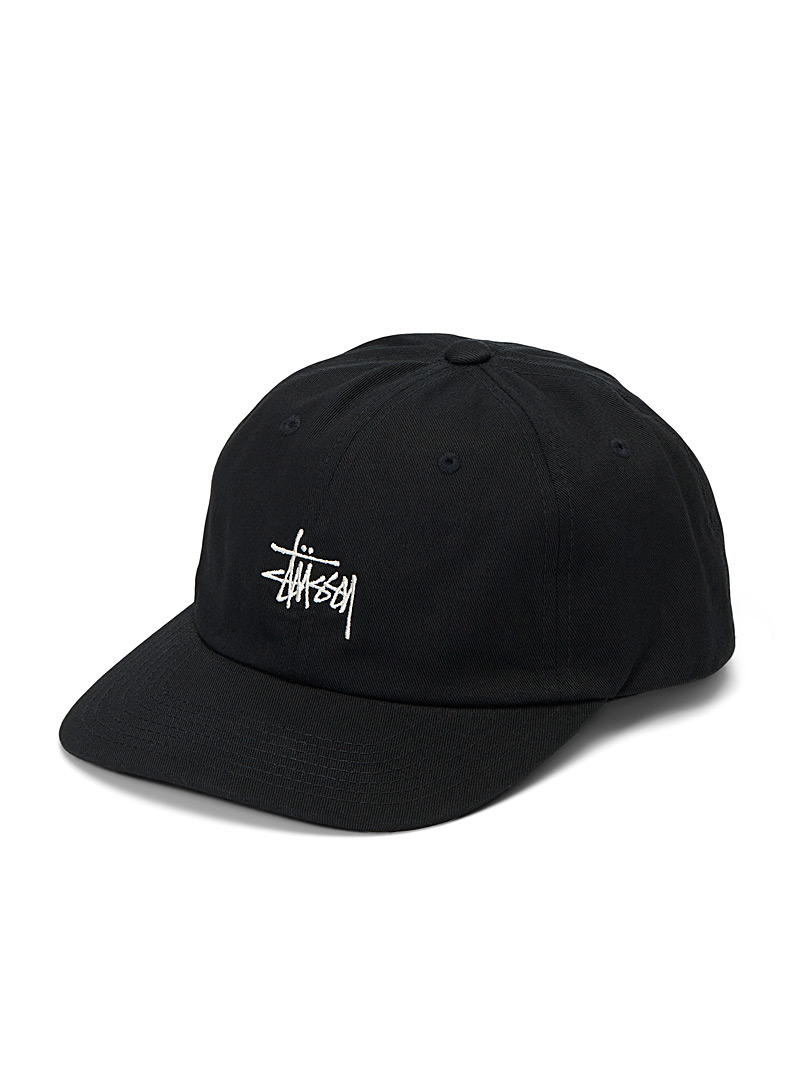 Embroidered logo six-panel cap