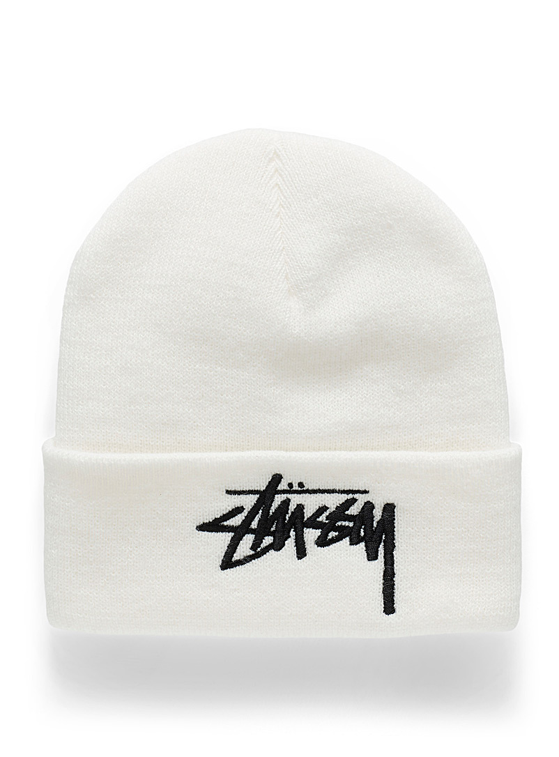 Embroidered logo wide-cuff tuque