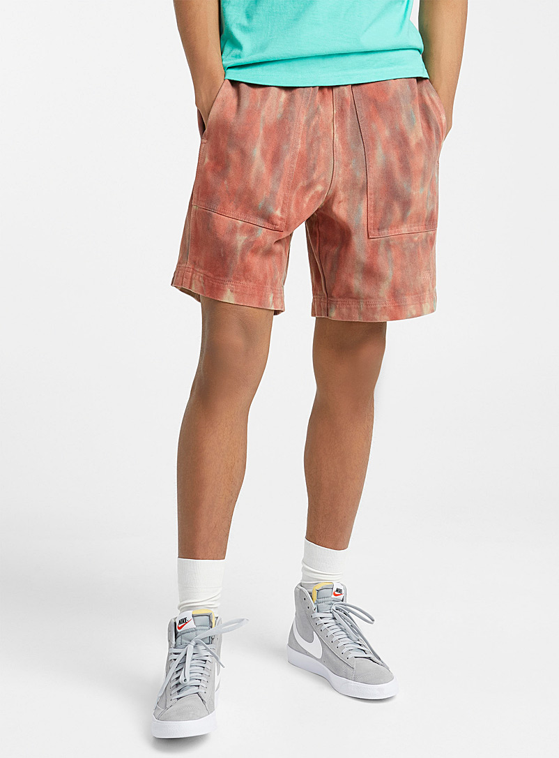Stüssy Assorted Abstract faded denim short for men