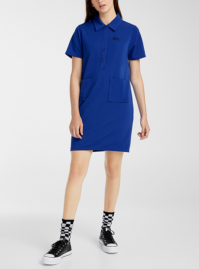 Stüssy Blue Electric blue polo dress for women