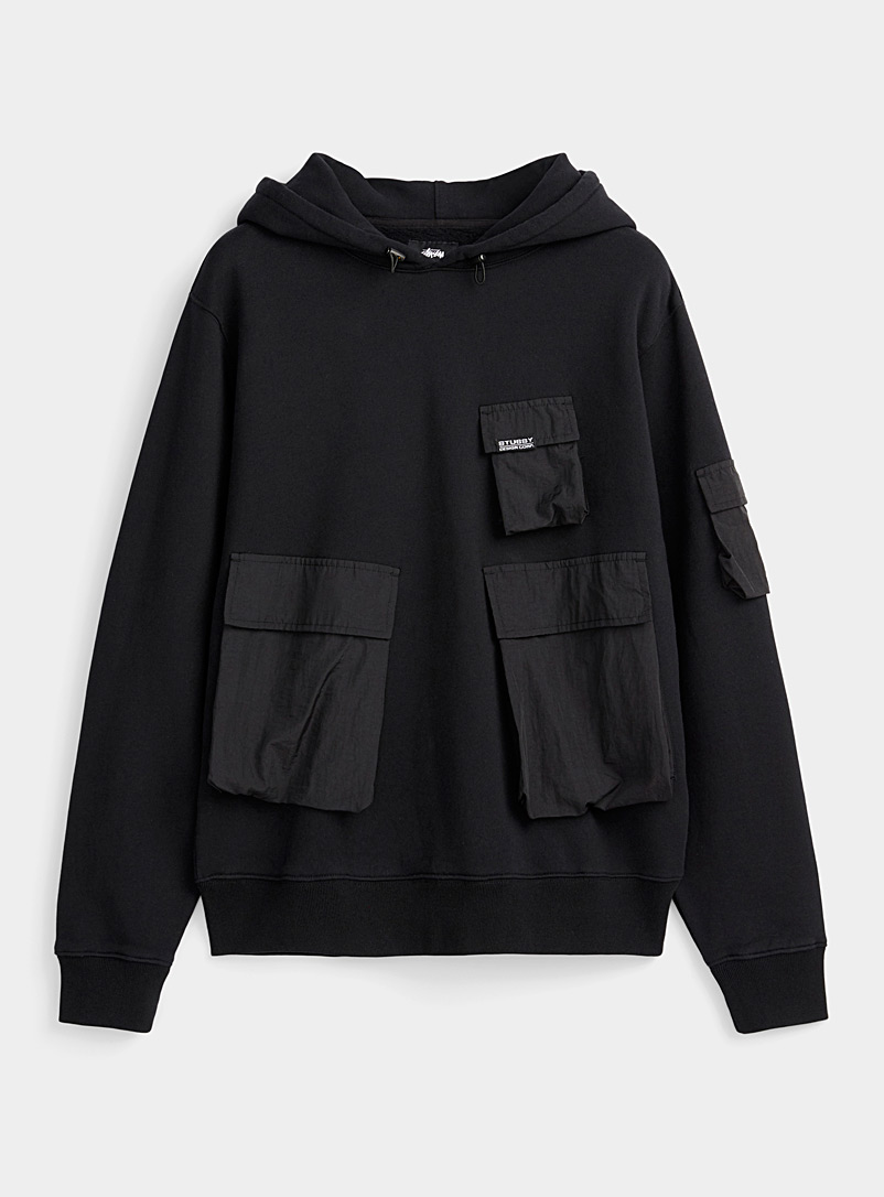 Stüssy Black Tactical hoodie for men