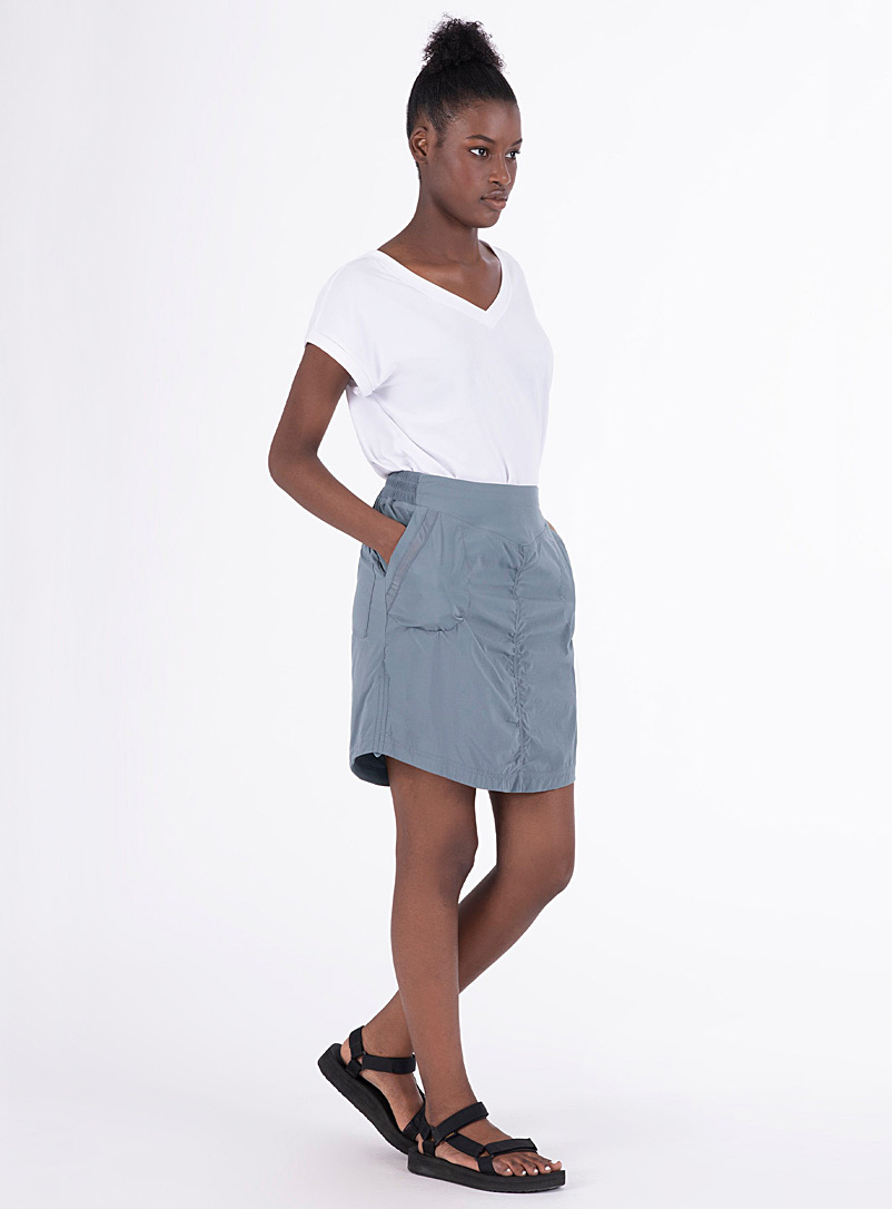 Indygena Slate Blue Kelione III outdoor skirt for women