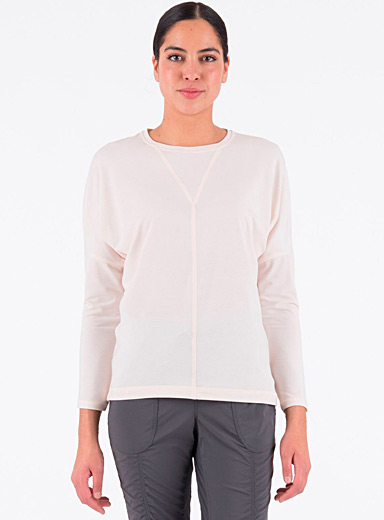Indygena Ivory White Maud lyocell jersey tee for women