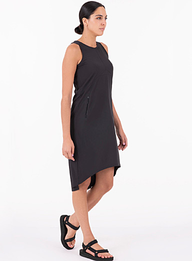 Openwork back shift dress